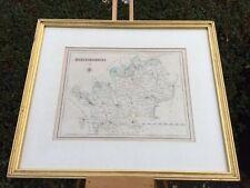 County Map Hertfordshire Antique c1840