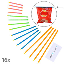 Slide-On Bag Sealer Sticks 16 pieces in 4 Different Sizes - Quickly Seal Bags -