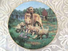 """The Hamilton Collection Golden Retrievers Collectible Plate 8.5"""""""