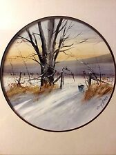 American Listed Artist Ed Gifford Signed Original Winter Landscape Painting