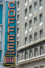 SUPERB RETRO VINTAGE NEW YORK COFFEE SHOP CANVAS #414 QUALITY FRAMED PICTURE