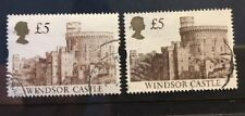 GB QE II £5 - two variations - one looks like perf shift