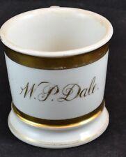 Guerin Limoges Wedding Ring Gold Shaving mug W.P.Dale Monogram