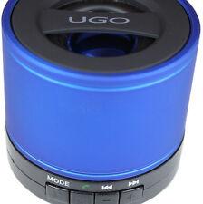 NEW Ugo Bluetooth Wireless Blue Portable Mini Speaker with SD Card FM Radio