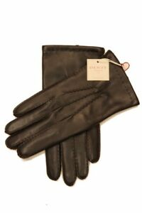 Dents: Brown Handsewn Cashmere Lined Hairsheep Leather Gloves - Size 9.5 Brown H