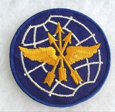 "AIR FORCE EMBROIDERED ON TWILL ATC EASTERN AIR DEFENSE JACKET PATCH 4"" GAUZE BK"