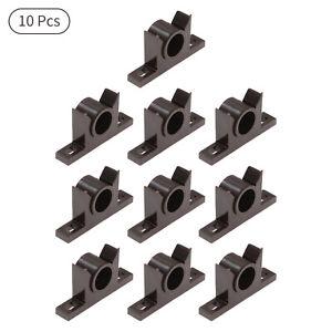 10Pcs Durable Plastic Door Stop Round Bumper Holder Wall Protector Guard Stopper