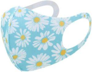 5pcs Reusable Breathable Washable Face Mask | Daisy Print Design | Adult Fit