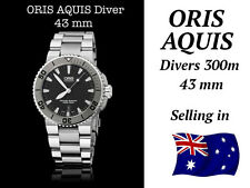 Oris AQUIS DATE MENS Steel  43mm DIVERS WATCH RRP $2300  SELLING in AUST