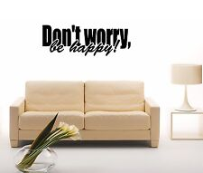 Wall Stickers Vinyl Decal Quote Don't Worry Be Happy Bob Marley ig1431