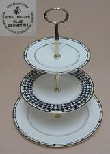 "Royal Doulton ""Blue Geometrix"" THREE TIER CAKE STAND"