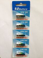 ALKALINE BATTERIES 27A-C5 HIGH VOLTAGE 12V CARD OF 5+NEW+WTY