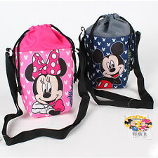 1x Disney Smile Mickey Minnie Mouse Water Bottle Insulated Holder Bag Travel Kid