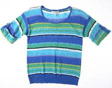 Sweater Womens Small JONES NEW YORK Short Sleeved Striped Knit Top 4-6