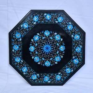 "36"" Marble Center / Coffee Table Top Inlay Work Pietra Dura Art Handmade Decor"