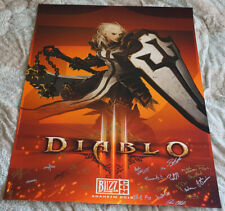BlizzCon 2015 Official Diablo 3 III Signed Poster