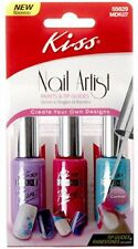 Kiss Nail Artist Paints & Tip Guides For Nails MDK07