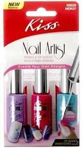 Kiss Nail Artist Paints & Tip Guides For Nails MDK07