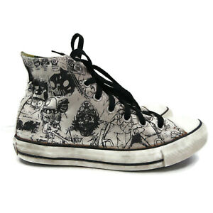 Converse Gorillaz Concept Art Hi Top Tennis Shoe W 8 M 6 2011 As Is White Black