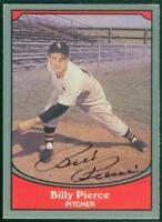 Original Autograph of Billy Pierce of the Chicago White Sox, 1990 Pacific Card