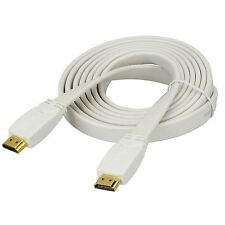 Premium HDMI Cavo piatto V1.4 HIGH SPEED 1080p ORO FULL HD TV 3D Piombo 0.5 m 50cm