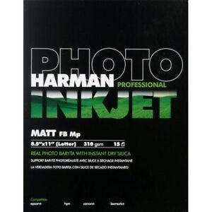 """Harman Photo Inkjet Paper 8.5""""X11"""" Matt FB Mp Baryta. Quantity Discount! #QDR169"""