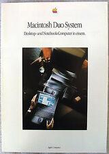 Apple Macintosh Duo PowerBook Original Werbung Prospekt Merchandising 1992