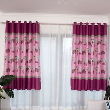 Single Lotus Leaf Printed Blackout Curtains For Living Room Bedroom Window ONE