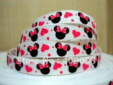 "Minnie Mouse Ribbon 3/8"" Wide 2m is only £1.29 NEW UK SELLER FREE P&P"