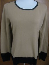 Ralph Lauren  women's brown blac gray cashmere sweater size Large NWT