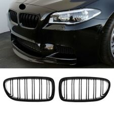 Gloss Black, BMW 5 Series F10 F11 Double slat M-Performance Kidney Grille