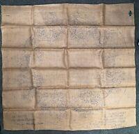 """Vintage Lee Wards Primitive Hook Rug Pattern - 19 51 722 - 38"""" Round - Rose"""