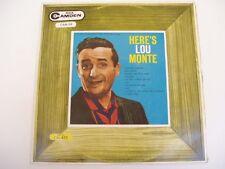 HERE'S LOU MONTE - RCA CAMDEN CAM58 - LP