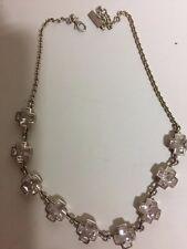 Kette Joop 925er Silber mit 9 Kreuzen und weißen Steinen