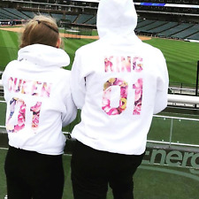 King & Queen Matching Couple Hoodies His And Hers Couple Hoodies NEW