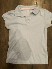 Izod Uniform Shirt Girls Size L 14/16 light blue
