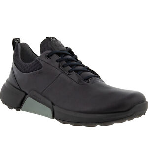 ECCO Mens Biom H4 Leather Gore-Tex Waterproof Golf Trainers Sneakers Shoes
