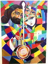 SAYAT NOVA LOVE SONG Original Abstract Art Oil Painting- RUSSIAN ARMENIAN Artist