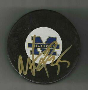 Marty Turco Signed Michigan Wolverines Official Game Puck Dallas Stars