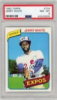 1980 Topps #724 Jerry White Montreal Expos PSA 8 GRADED Baseball Card