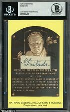Babe Ruth Signed Handwriting HOF Plaque Postcard Autographed BAS BGS AUTO 1/1