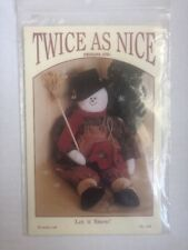 Twice As Nice Design Pattern 'Let It Snow' 20� Snowman New Uncut Vintage Holiday