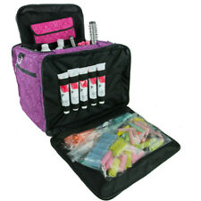 Large Hairdressers Tool Bag, Professional Hair Accessories Kit, Case, Purple