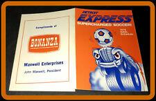 1978 DETROIT EXPRESS BONANZA SOCCER POCKET SCHEDULE EX+NM CONDITION FREE SHIP