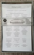 Gartner Studios Wedding Invitation's Kit 50 Invitations & Response Cards - NIB