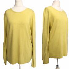 BHS Women Jumper 14 Lemon Yellow Long Sleeve Round Neck Smart Casual Office Work
