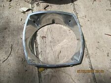 74 75 76 77 78 Ford Mustang II LH Headlight Trim   Chrome OEM