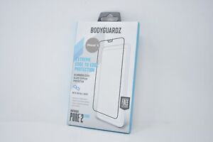 """BodyGuardz Pure 2 Edge Tempere Screen Protector for Apple iPhone X / XS 5.8"""" NEW"""