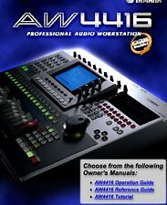 YAMAHA AW4416 PRO AUDIO OPERATION GUIDE, USER MANUAL ON CD **FAST POST**