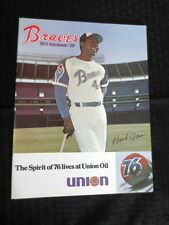 1972 Atlanta Braves Scorebook vs San Francisco Program Unscored Hank Aaron